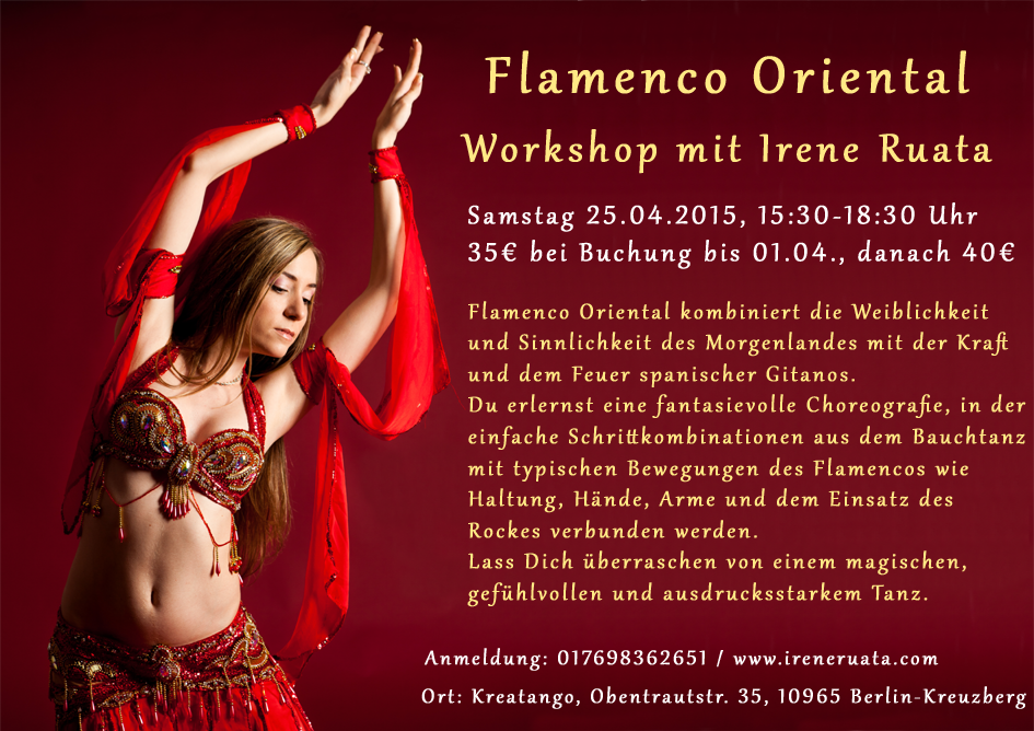 Workshop Flamenco Oriental mit Irene Ruata in Berlin-Kreuzberg