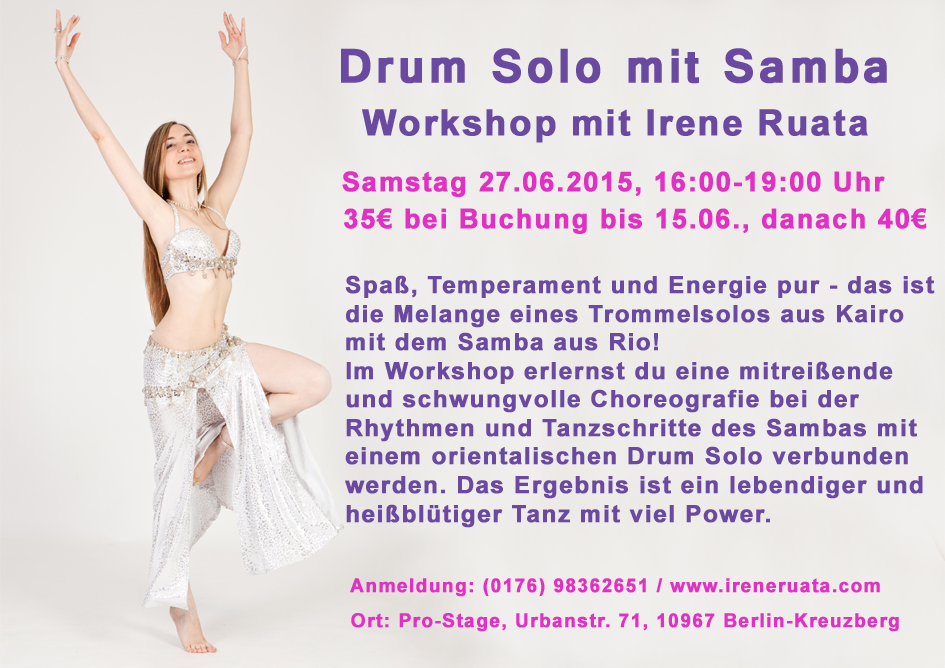 Workshop Drum Solo mit Samba mit Irene Ruata in Berlin-Kreuzberg