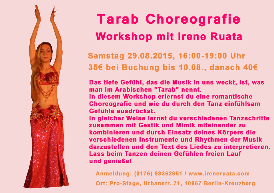 Workshop Tarab Choreografie mit Irene Ruata in Berlin-Kreuzberg