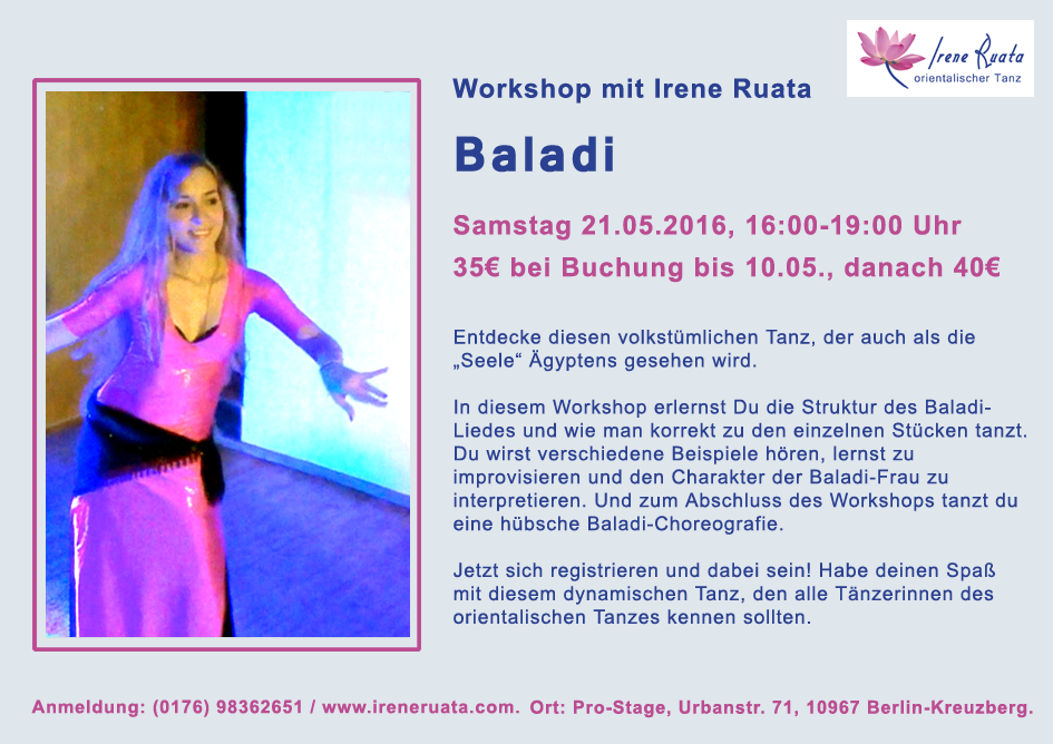Workshop Baladi mit Irene Ruata in Berlin-Kreuzberg