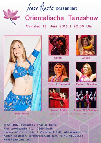 Orientalischer Tanzshow am 18. Juni in Berlin-Kreuzberg