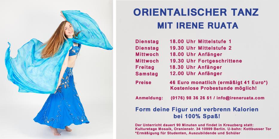 Bauchtanz-Kursangebot im Irene Ruata Dance Studio in Berlin-Kreuzberg